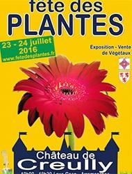 affiche Fête des plantes au château de Creully juillet 2016 - Jardiniers Professionnels