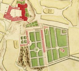 dessin des jardins du chateau de Blois renaissance française - Professionnels A Domicile