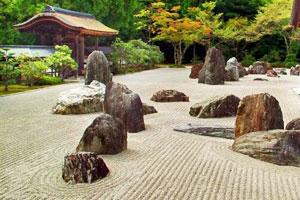 éléments des jardins secs : sable et rochers - Jardins japonais - Professionnels A Domicile