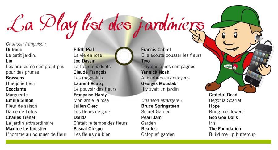 La playlist des jardiniers | Jardiniers professionnels