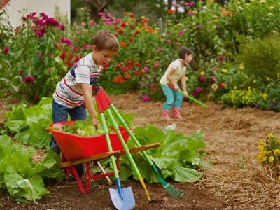 initier ses enfants au jardinage avec des outils adaptés - Jardiniers Professionnels