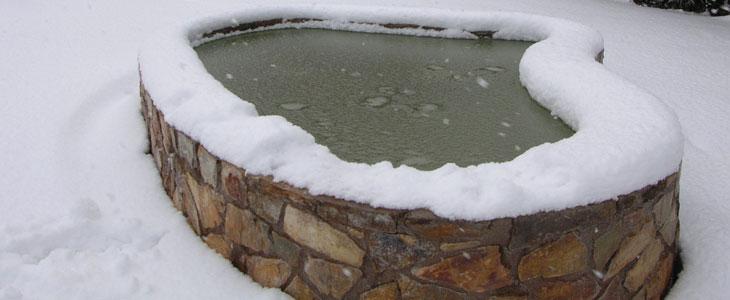 bassin en hiver