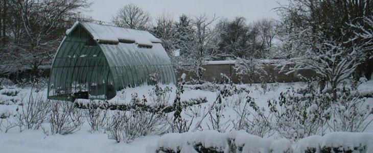 serre en hiver