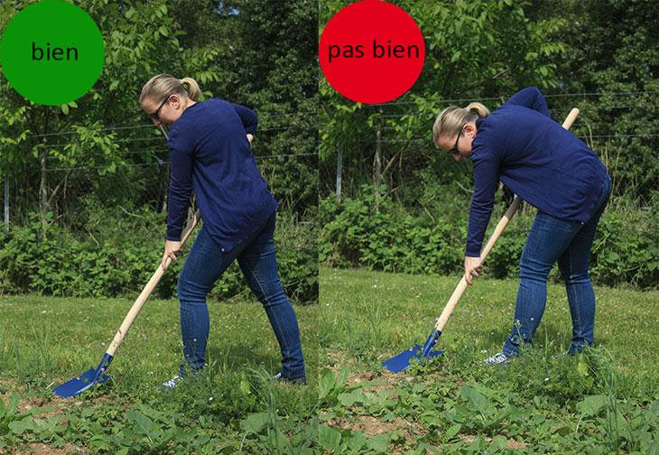 bonnes postures pour jardiner