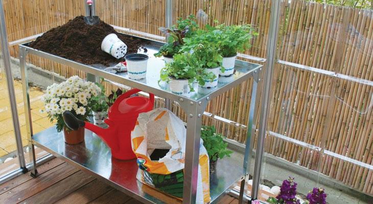 table de culture, jardin en intérieur