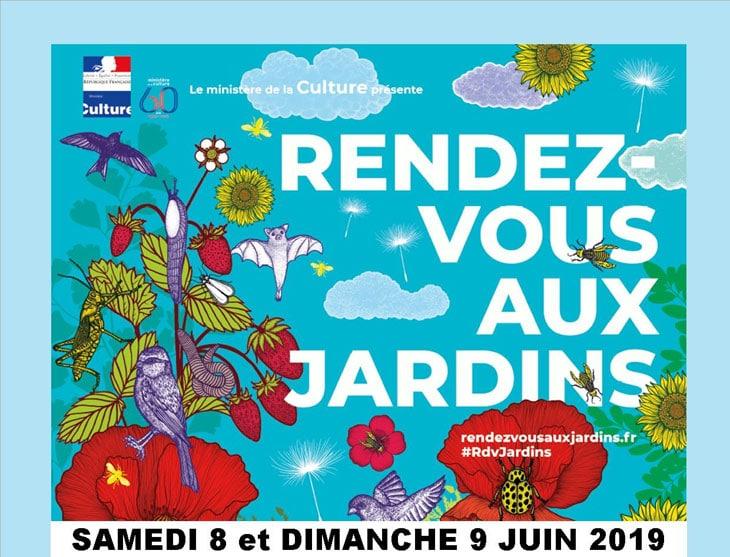 événements jardin de juin 2019