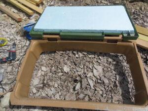 aération du toit de la serre enterrée