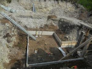Création des jardinières dans la serre enterrée