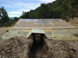 isolation du toit de la serre enterrée